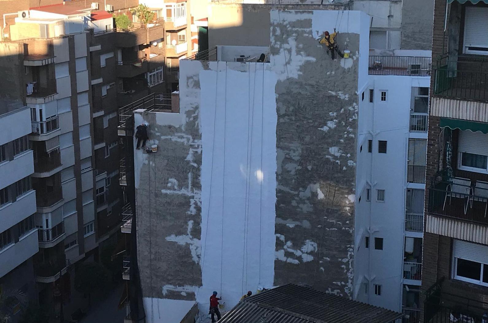 Pintura paredes medianeras