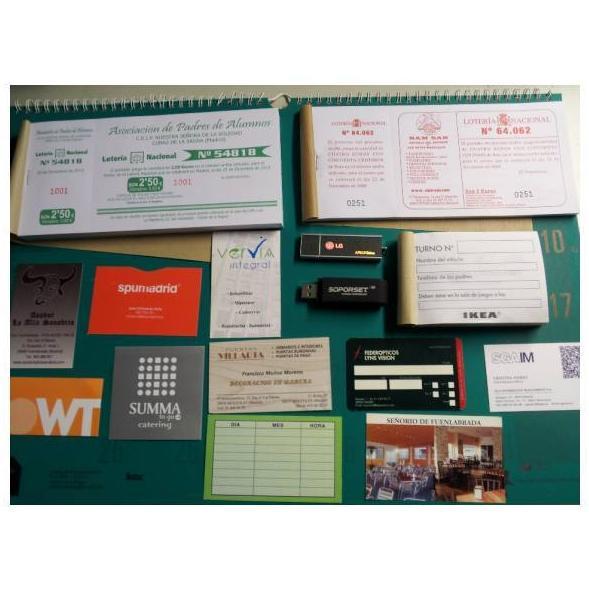 Tarjetas y talonarios: Catálogo de Imprenta Jaspe
