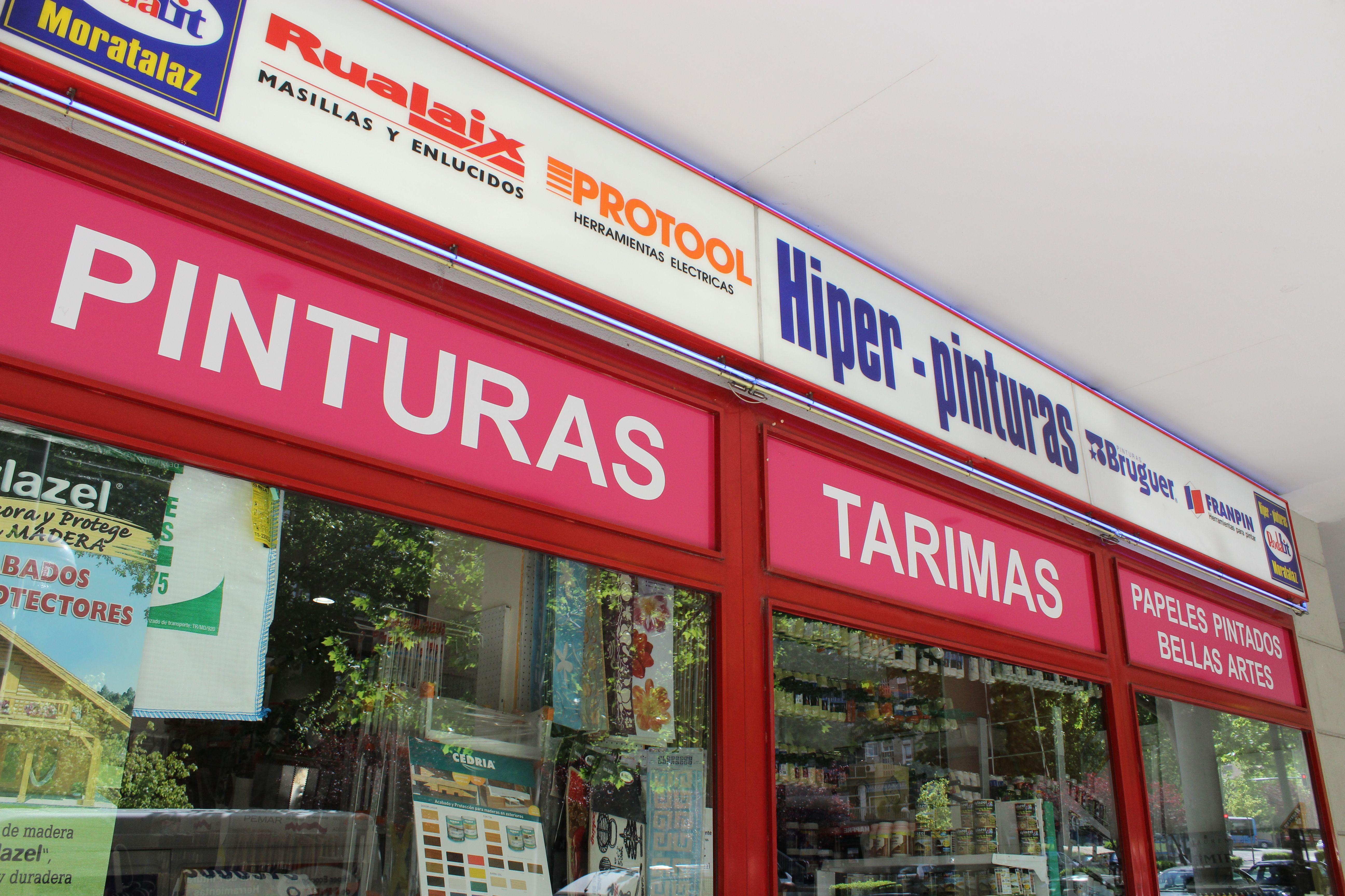 Foto 3 de Pinturas, Barnices y Papeles pintados en Madrid | Hiper Pinturas Moratalaz