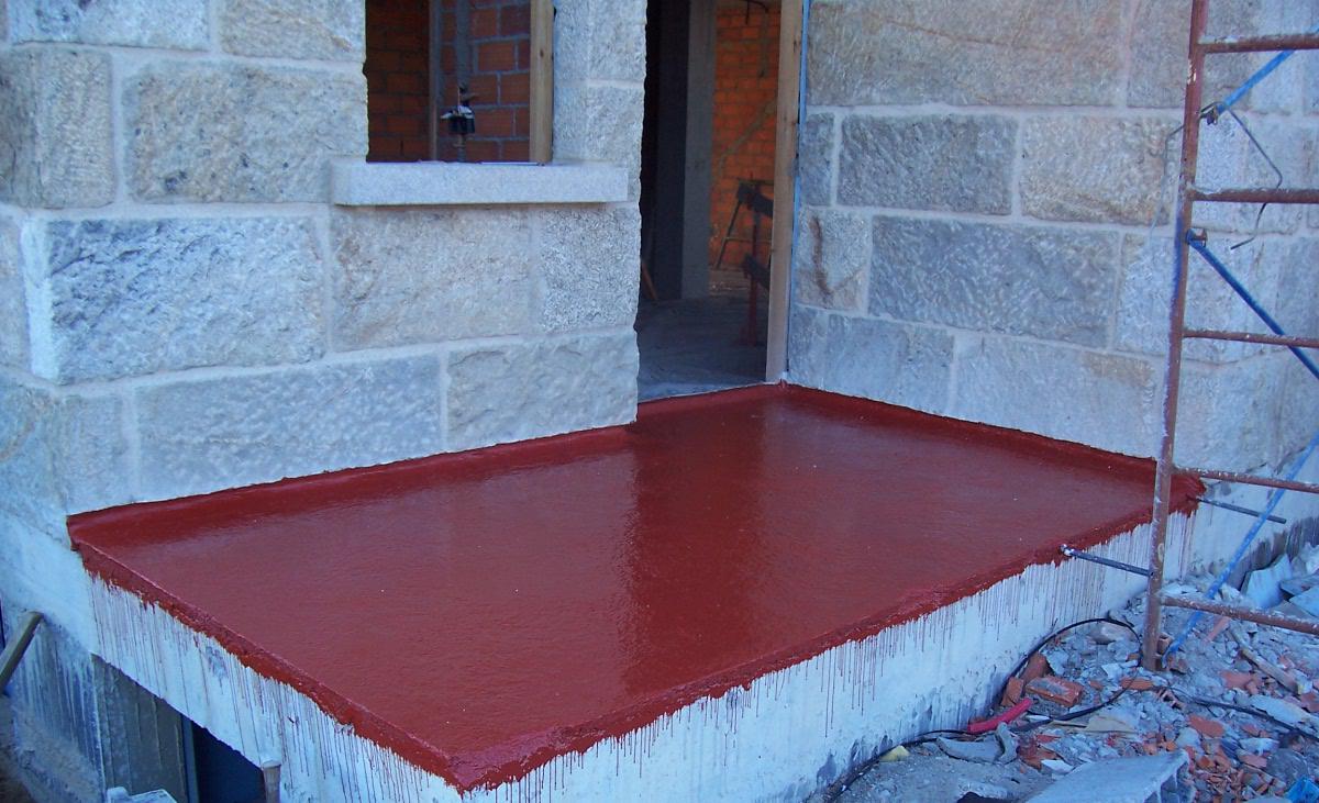 Terraza con poliuretano