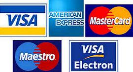 Tarjeta de Crédito y Debito admitidas.