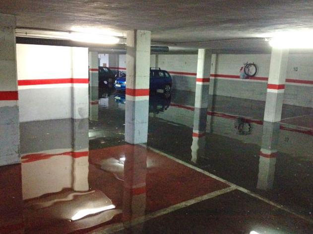 Vaciado de garaje inundado