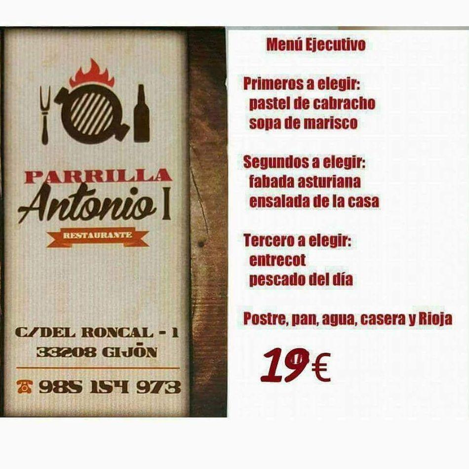 Menú ejecutivo en Parrilla Antonio