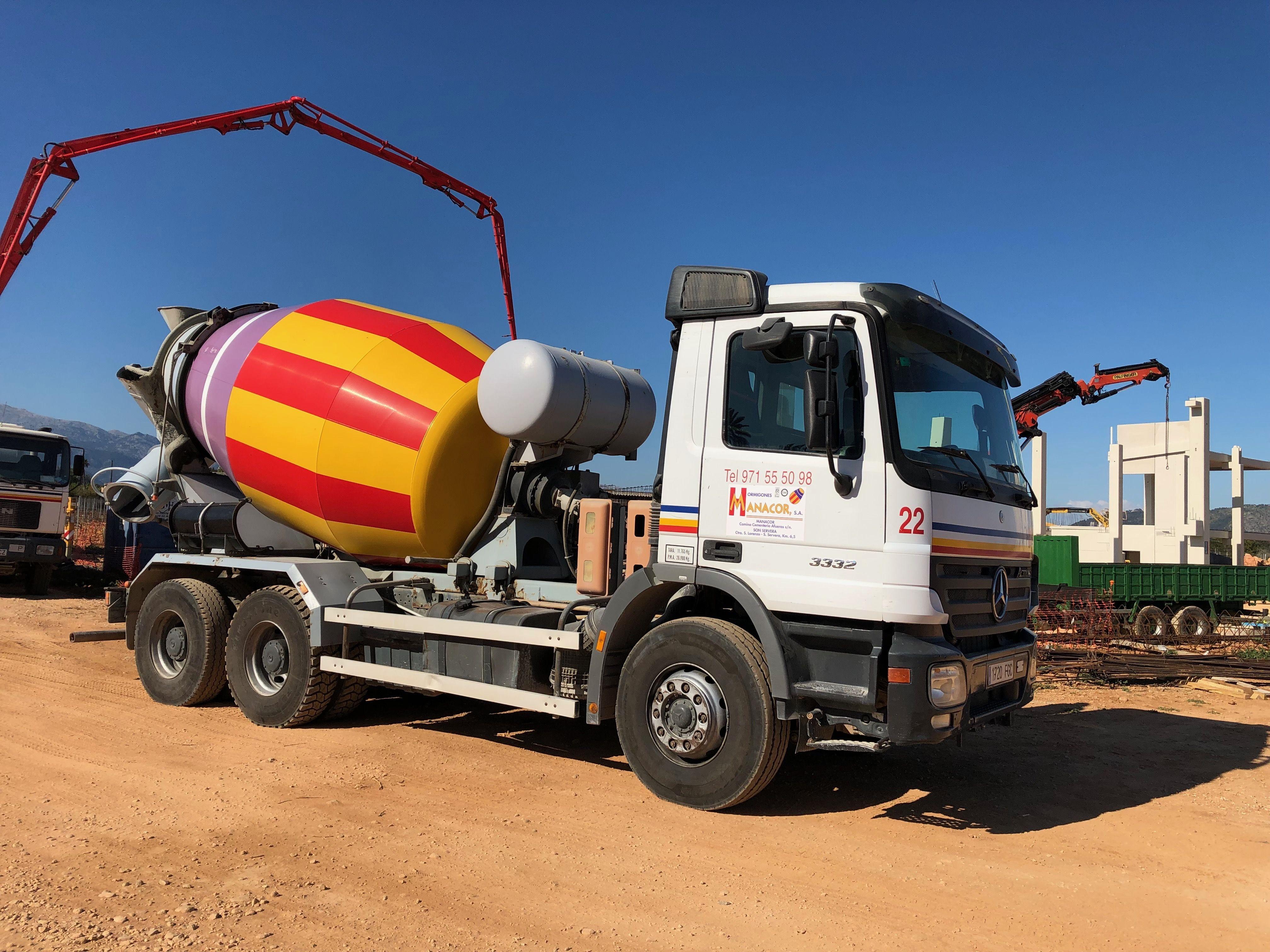 Transporte de hormigón en Mallorca