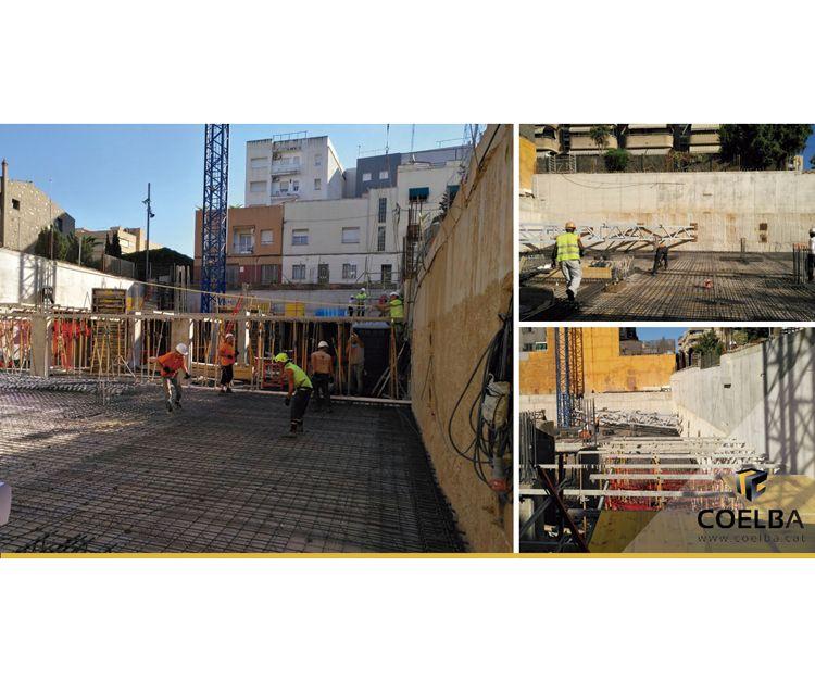 Construcción en Cornellà.