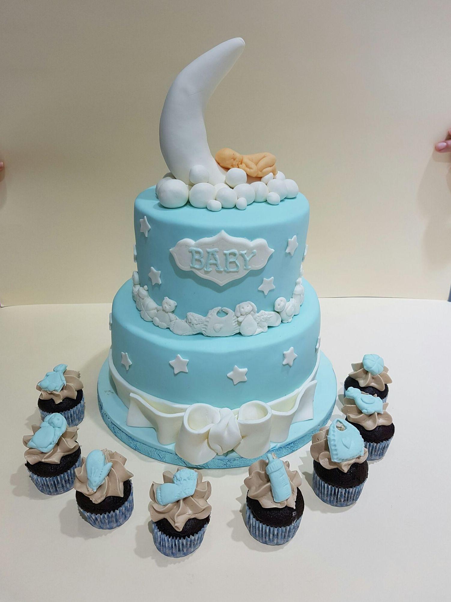 Tartas y cupcakes para bautizos