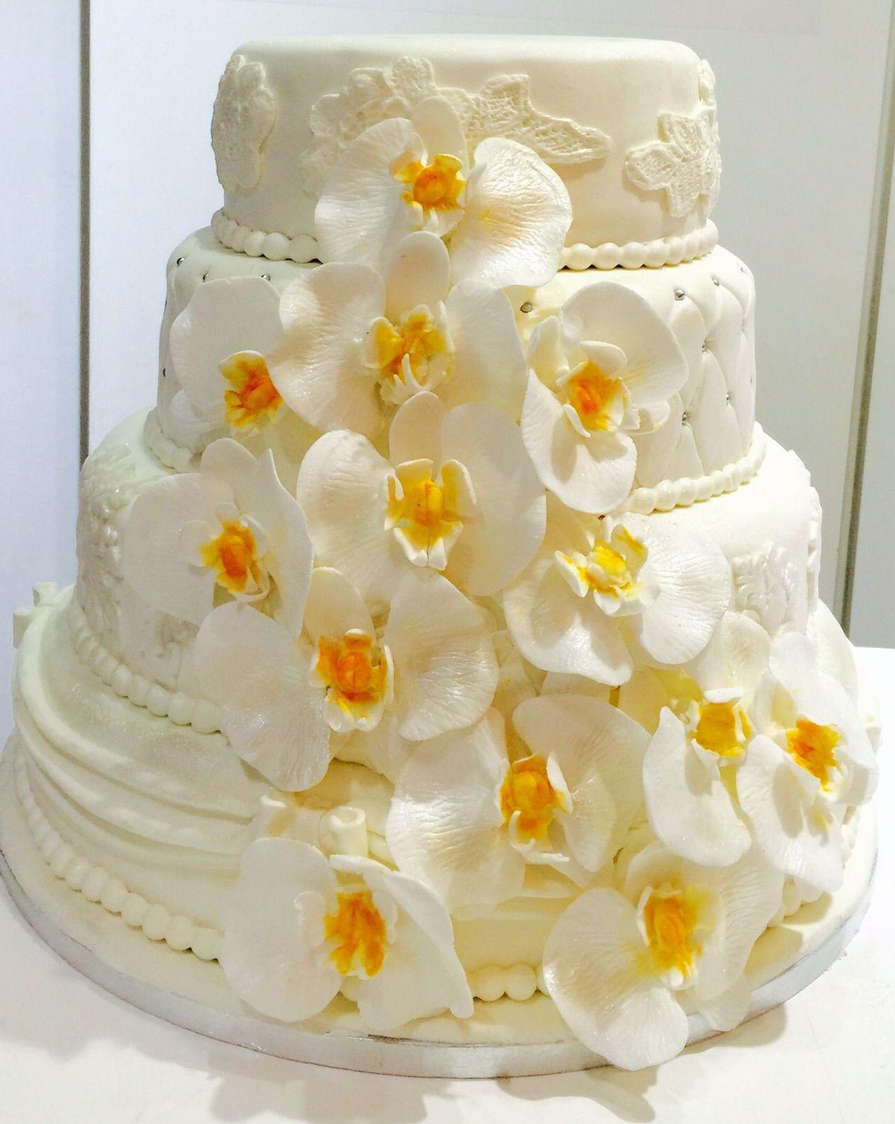Tartas para bodas de fondant