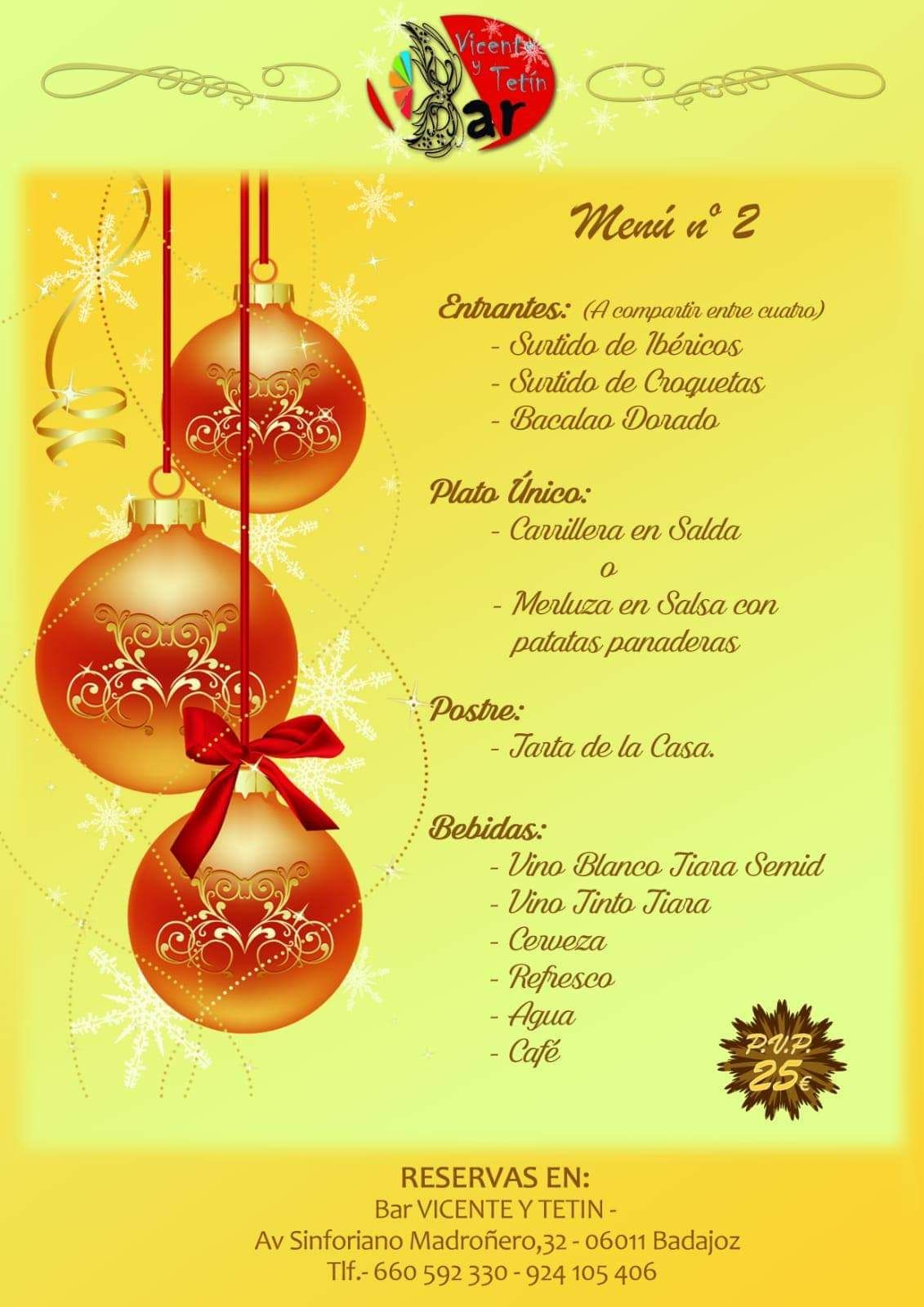 Menú de navidad 2º