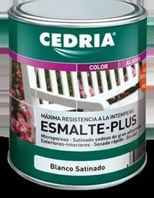 Esmalte PLUS CEDRIA en tienda de pinturas en ciudad lineal.
