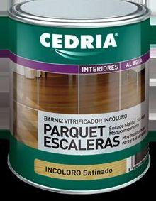 Barniz PARQUET Y ESCALERA CEDRIA en almacén de pinturas en ciudad lineal.