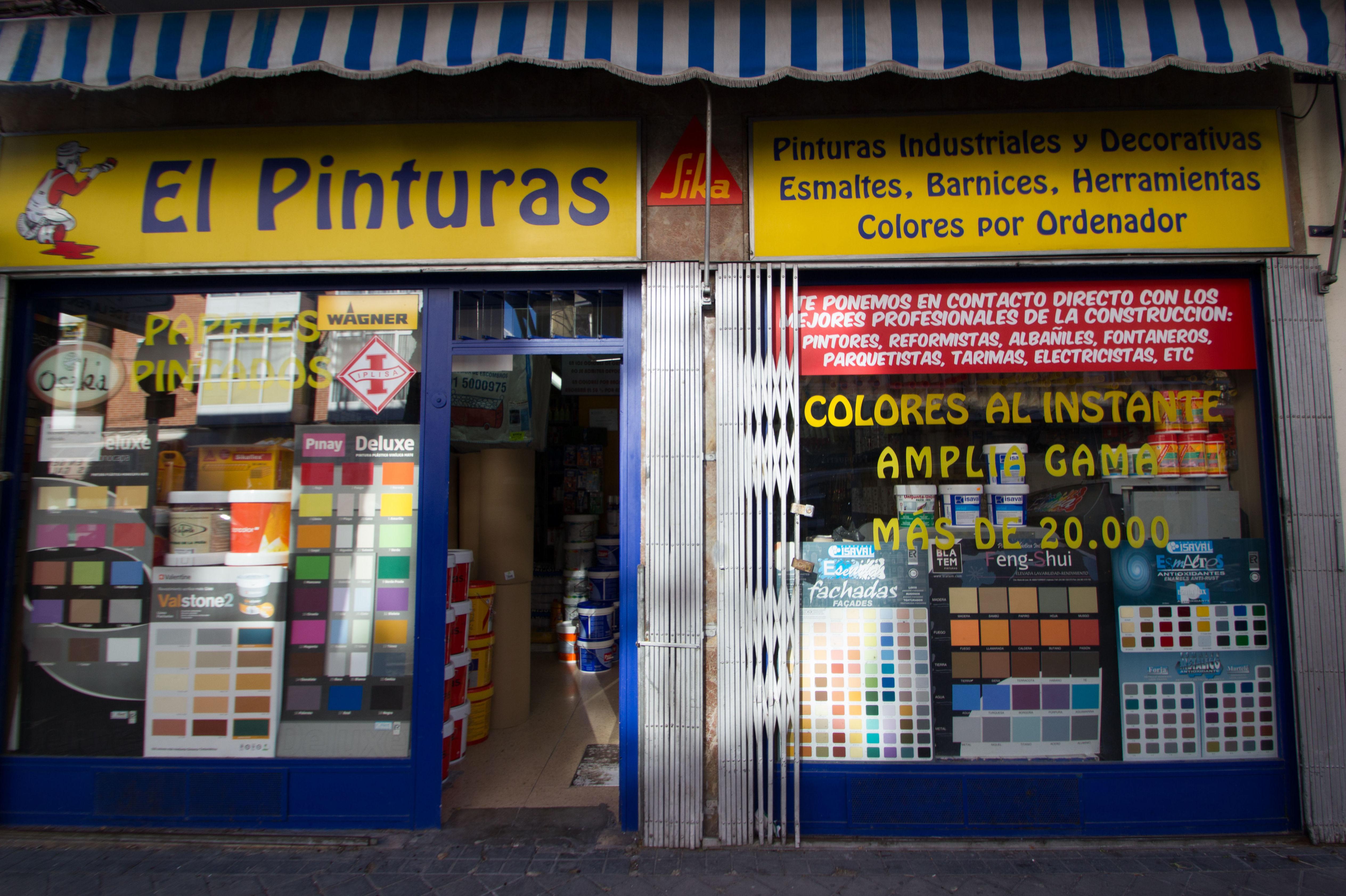 Tienda especializada en todo tipo de pinturas decorativas, barnices y material para pintar.