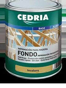 Fondo incoloro CEDRIA en tienda de pinturas en pueblo nuevo.