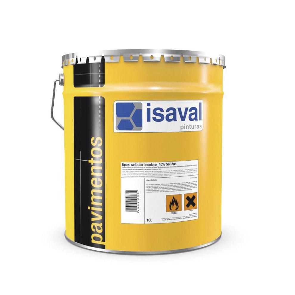 Epoxi sellador incoloro 40% sólidos ISAVAL en tienda de pinturas en ciudad lineal.