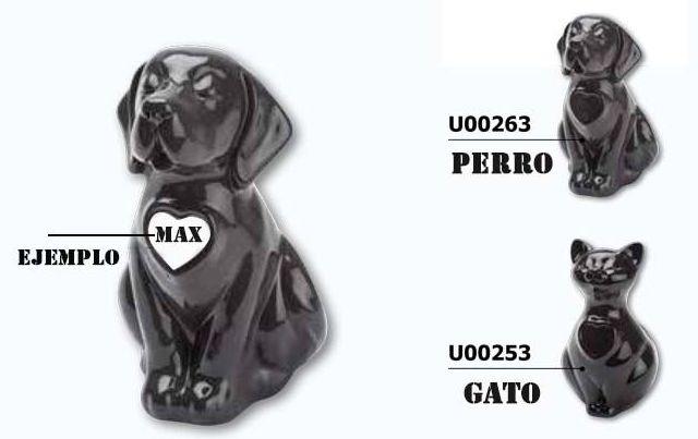 URNA PORCELANA ANIMALES  GATO/PERRO NOMBRE