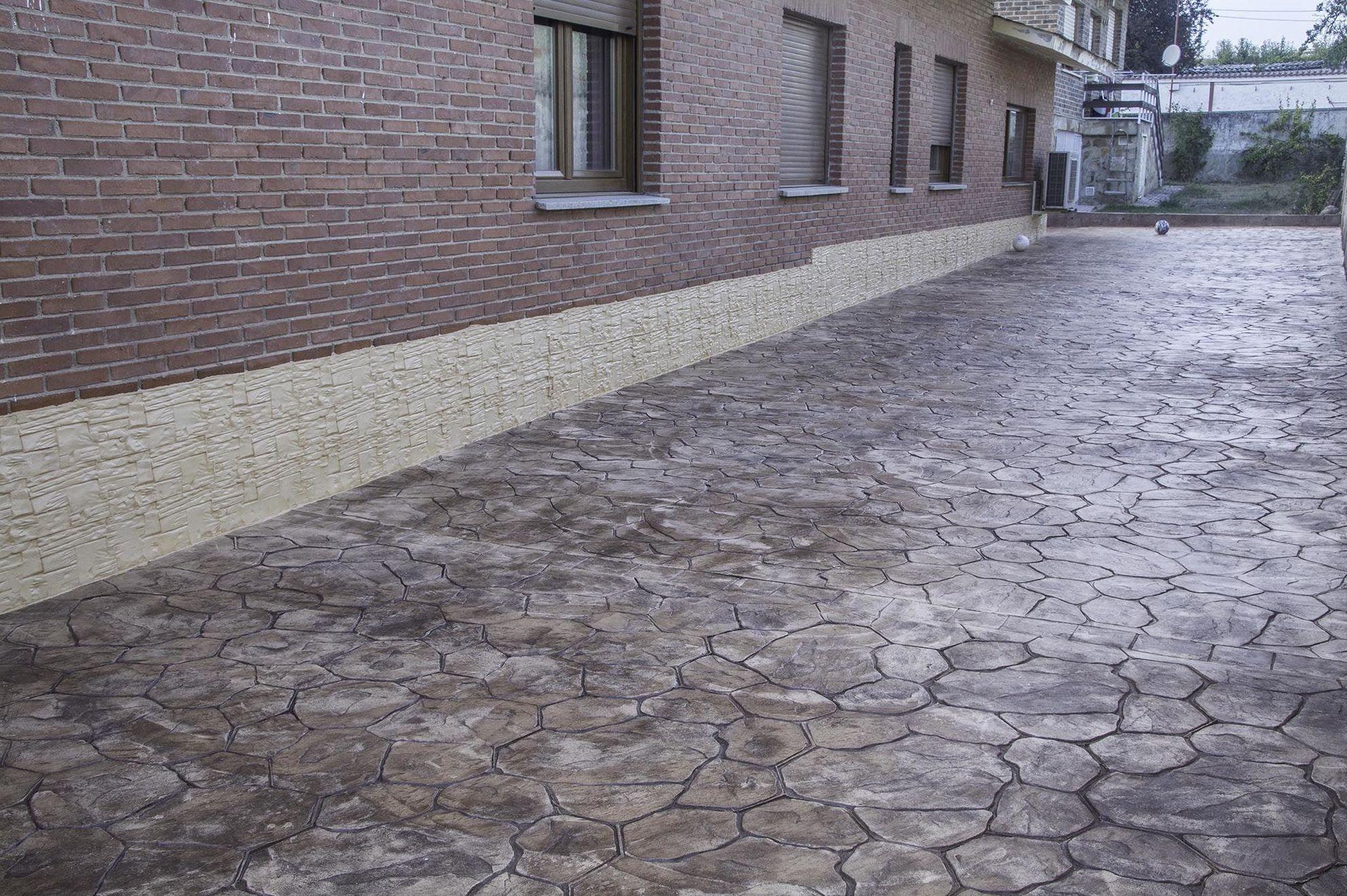 Pavimento estampado piedra