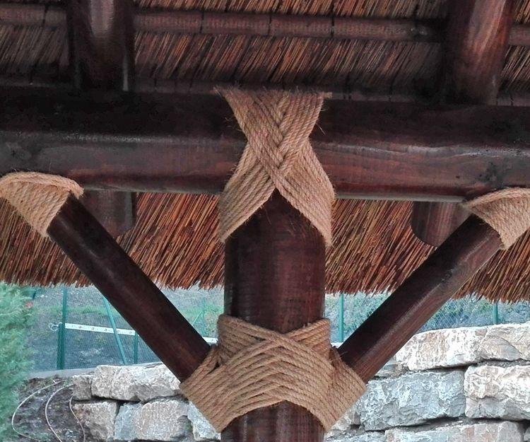 Pérgola de junco africano
