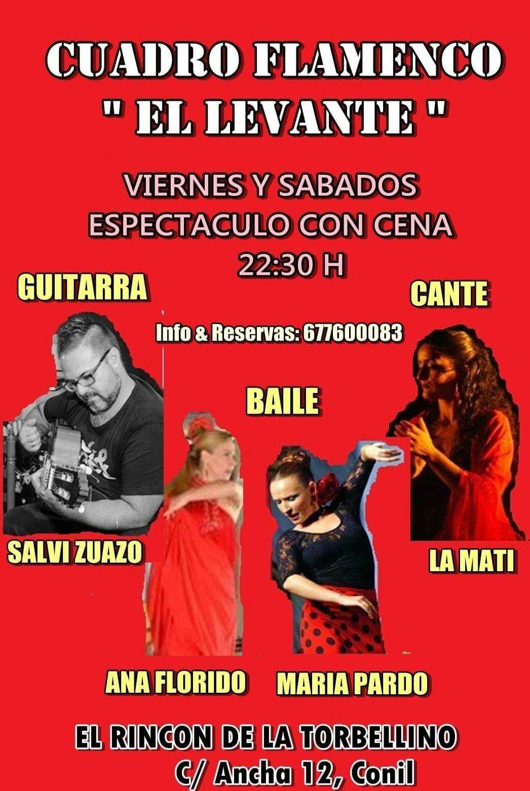 Cuadro Flamenco Más espectáculo Precios: Artistas de El Rincón de La Torbellino