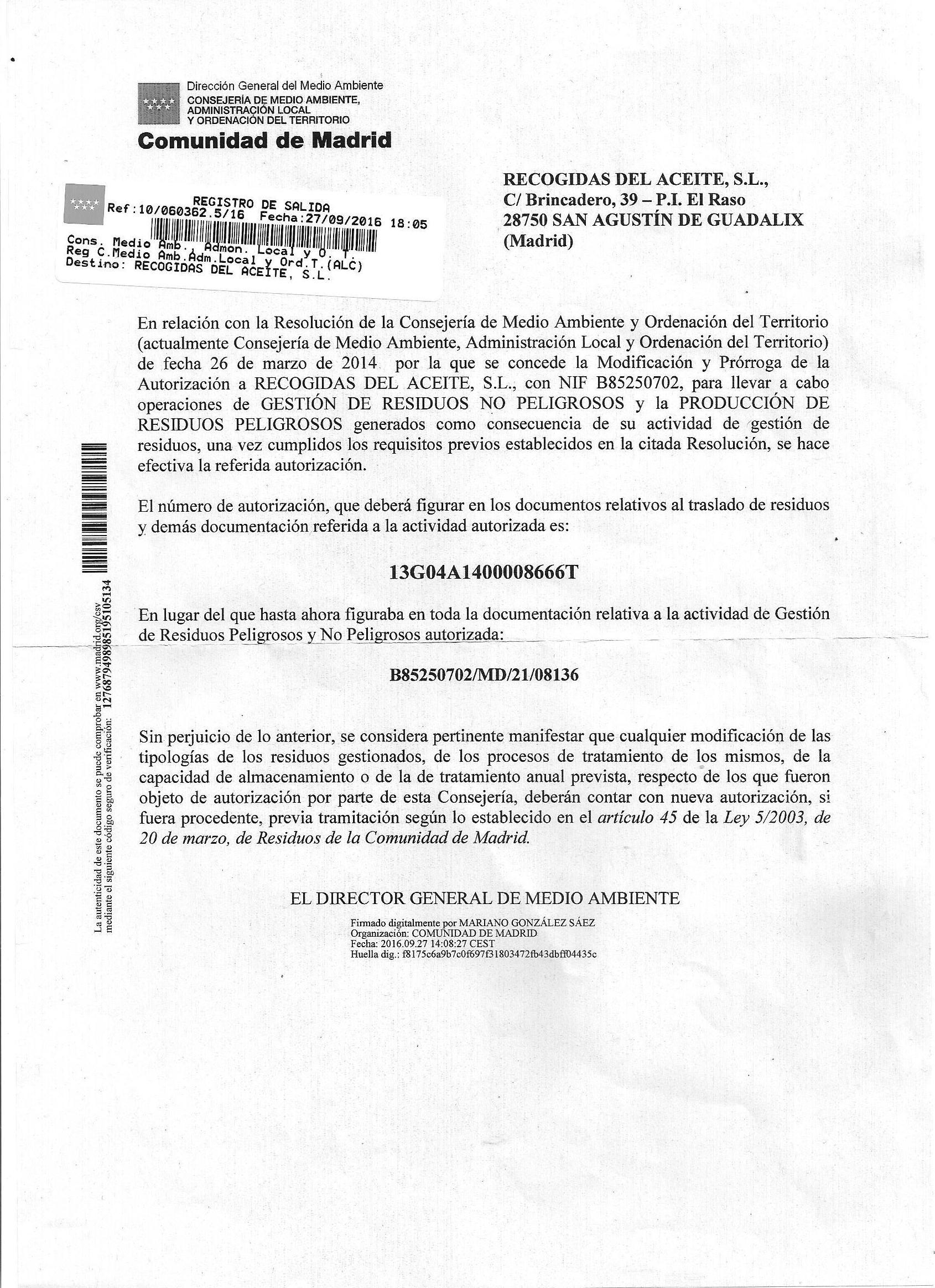 Gestores de la Comunidad de Madrid : Servicios de Recoil