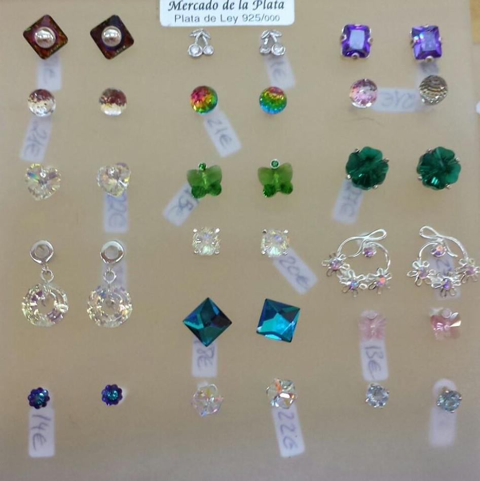 Pendientes de cristal de Swarovski