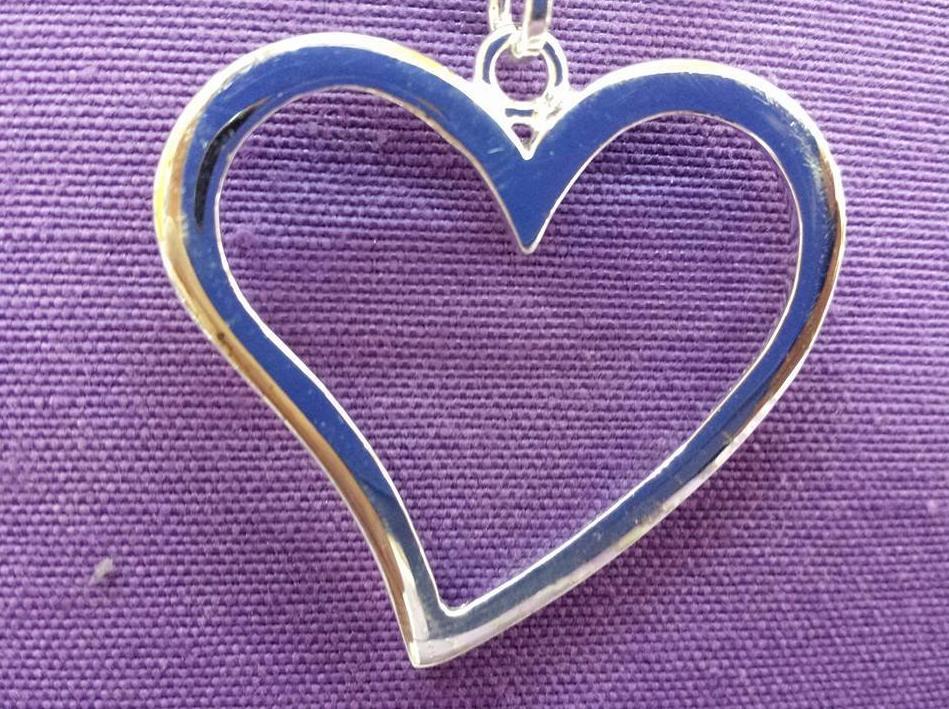 Colgante de plata para San Valentín