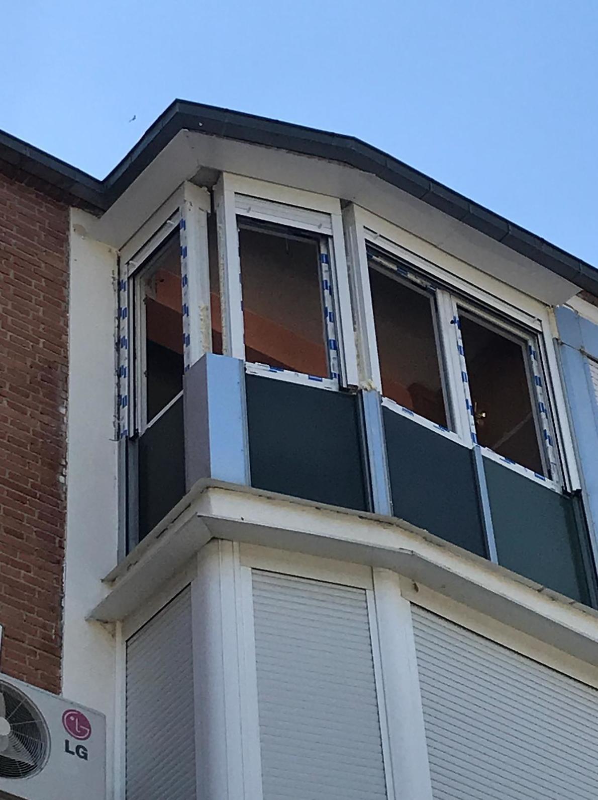 cerramiento de terraza sin terminar