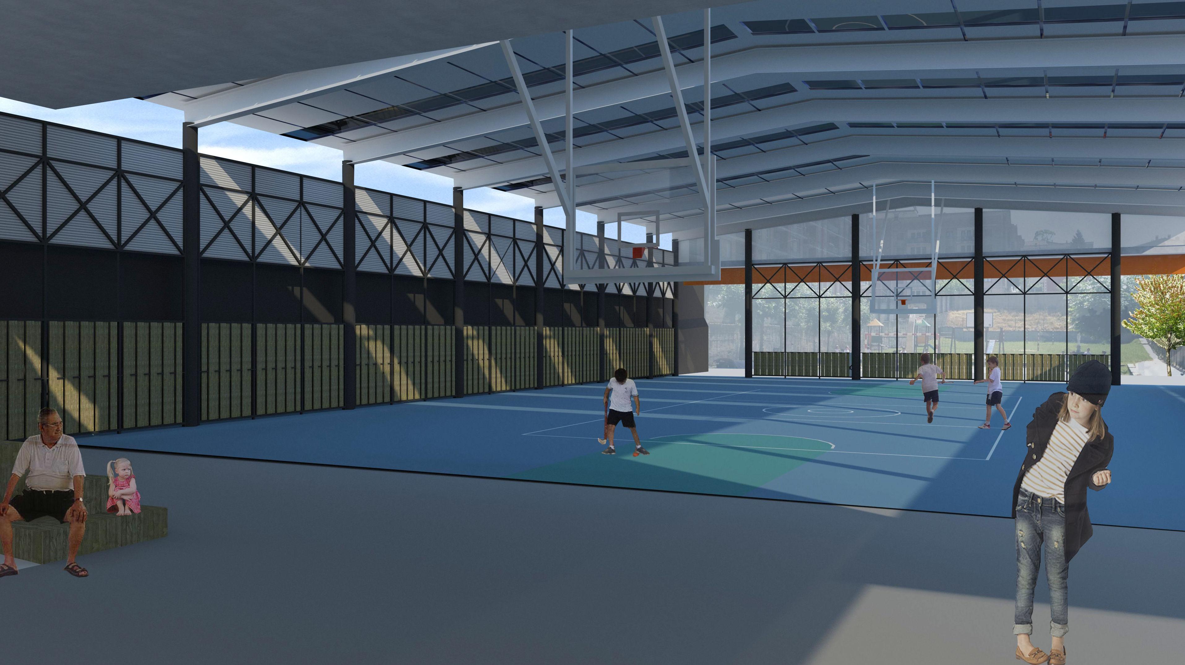 Reforma de la zona deportiva del colegio San Antonio y Santa Rita ikastetxea (Durango)