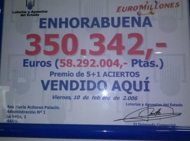Foto 5 de Loterías y apuestas en Haro | Administración de Lotería Palacín
