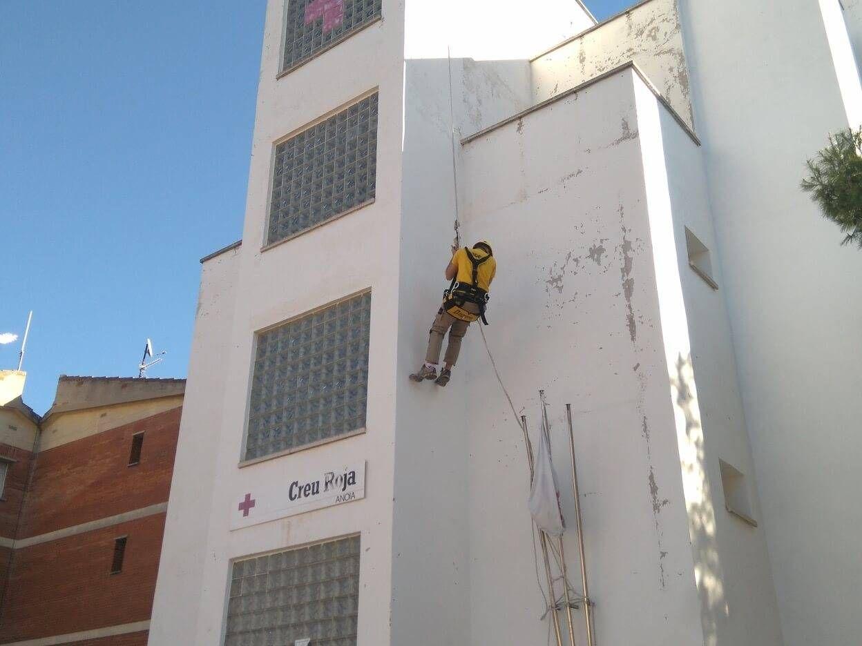 Rehabilitación de fachadas sin andamio