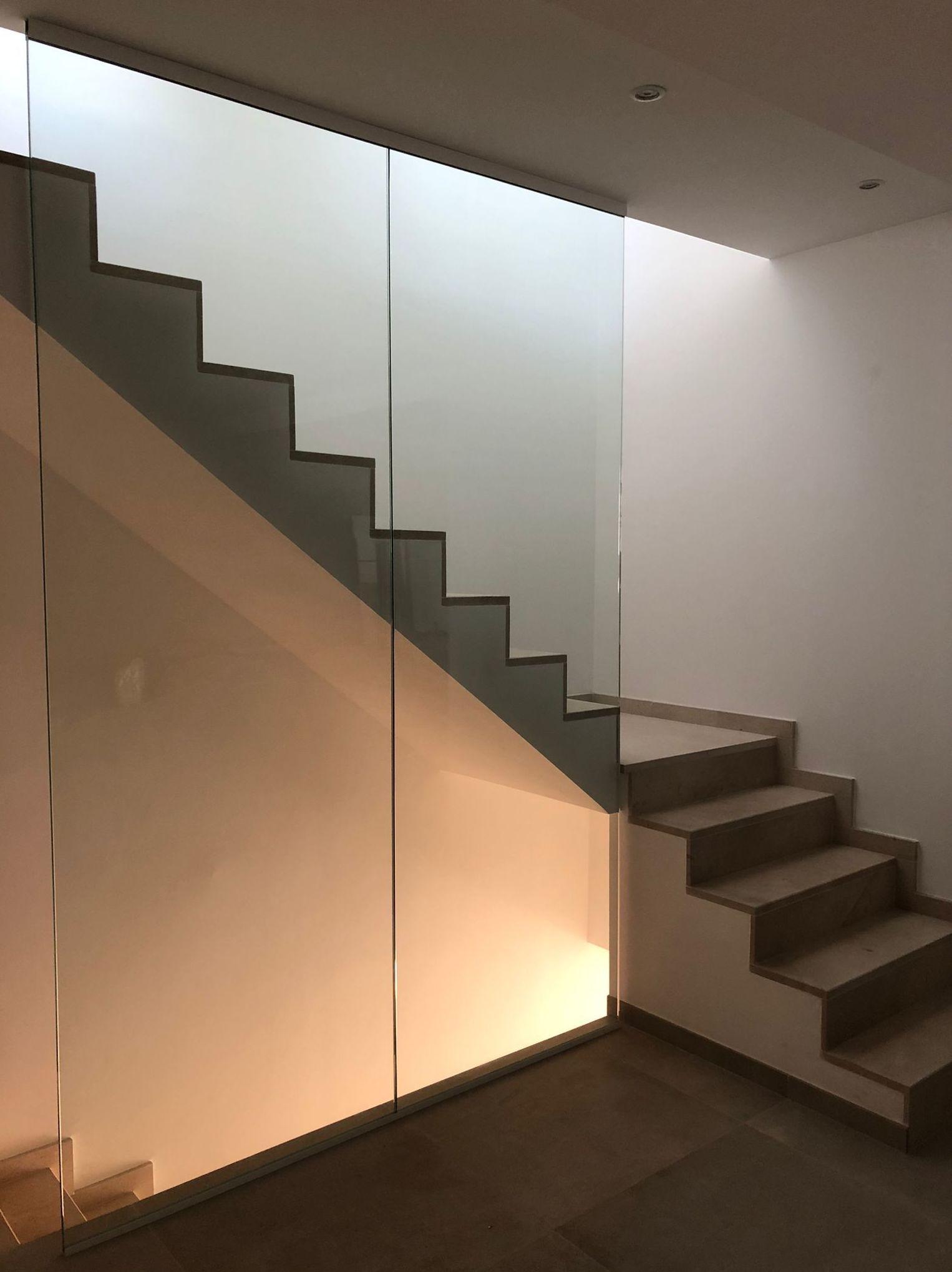 Cristal para hueco de escalera