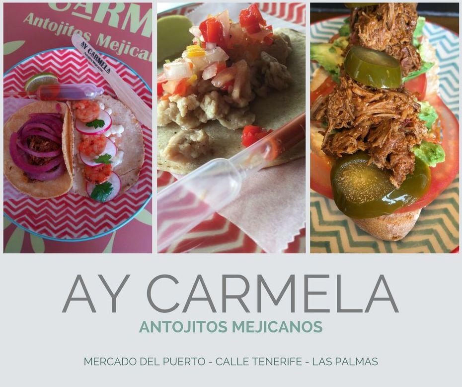 Auténtica comida Mexicana: Carta de Ay Carmela Antojitos Mexicanos