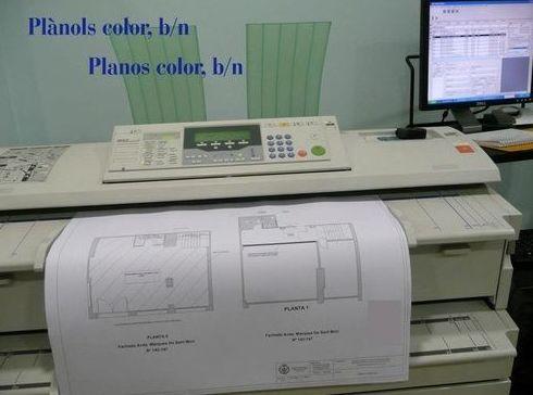 planos color copisterias técnicas en Barcelona