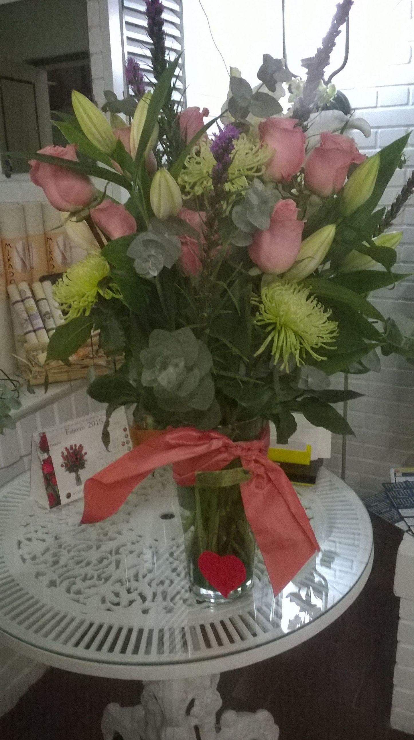 Variado con Rosas rosas