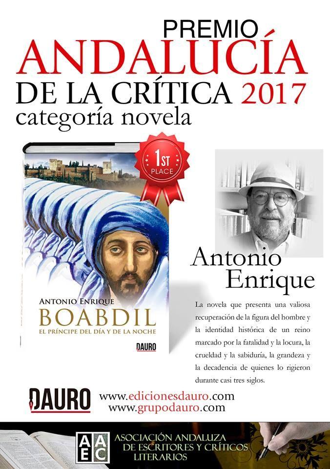 Boabdil de Antonio Enrique. Premio Andalucía de la crítica 2017