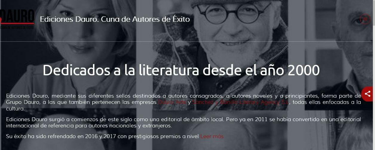 La nueva web corporativa de Ediciones Dauro.