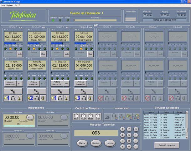 Software de posición de operación MF / HF: Productos de Invelco, S.A.