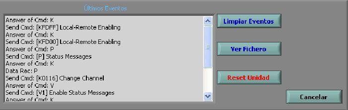 TR-650-A VHF Transceiver Control Software: Productos de Invelco, S.A.