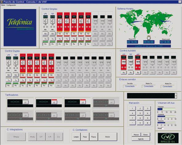 Software de posición de operación VHF: Productos de Invelco, S.A.