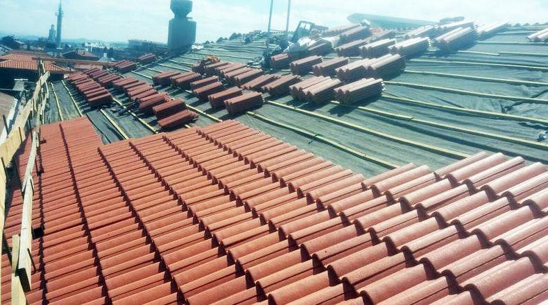 Rehabilitación de tejados de teja en Asturias