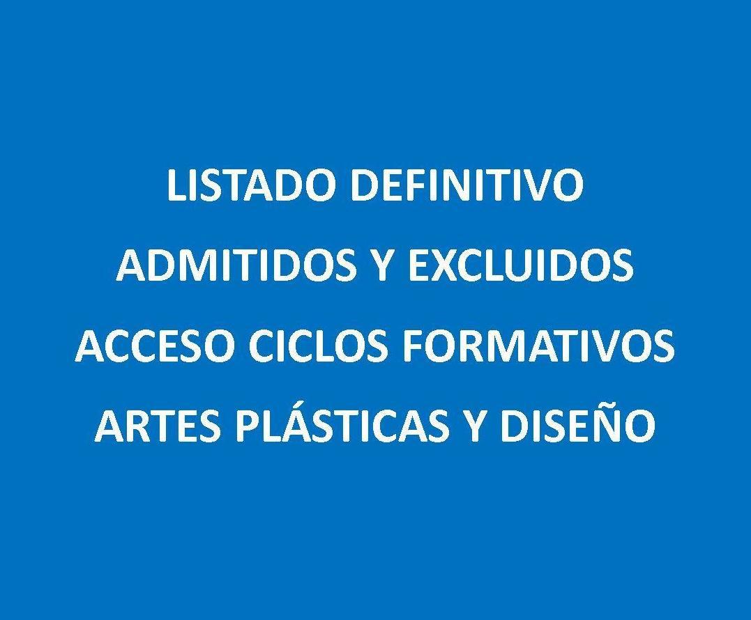 Listados Pruebas de Acceso C.F. A.P.D. Septiembre 2019: Servicios e información de Escuela de Arte Elena de la Cruz