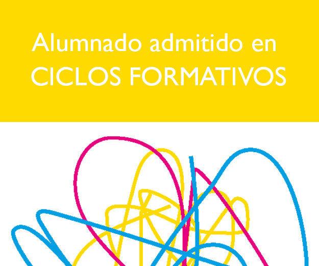 Alumando admitido a Ciclos Formativos : Servicios e información de Escuela de Arte Elena de la Cruz