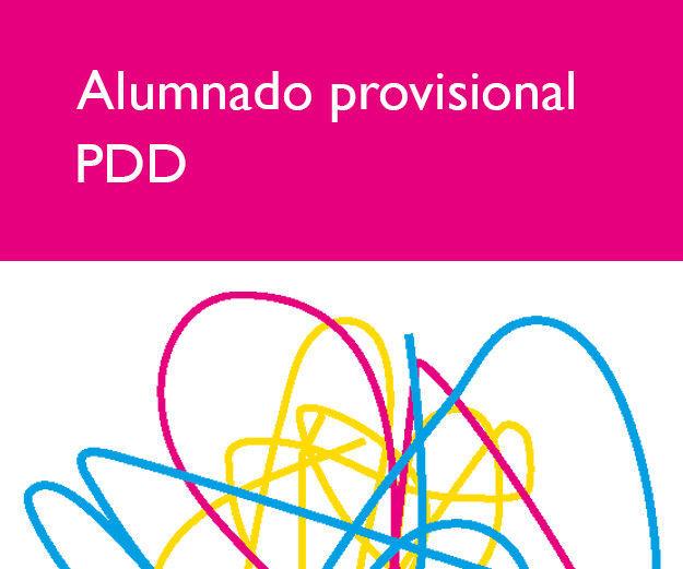 RESOLUCIÓN PROVISIONAL DE ALUMNADO EN P.D.D. : Servicios e información de Escuela de Arte Elena de la Cruz