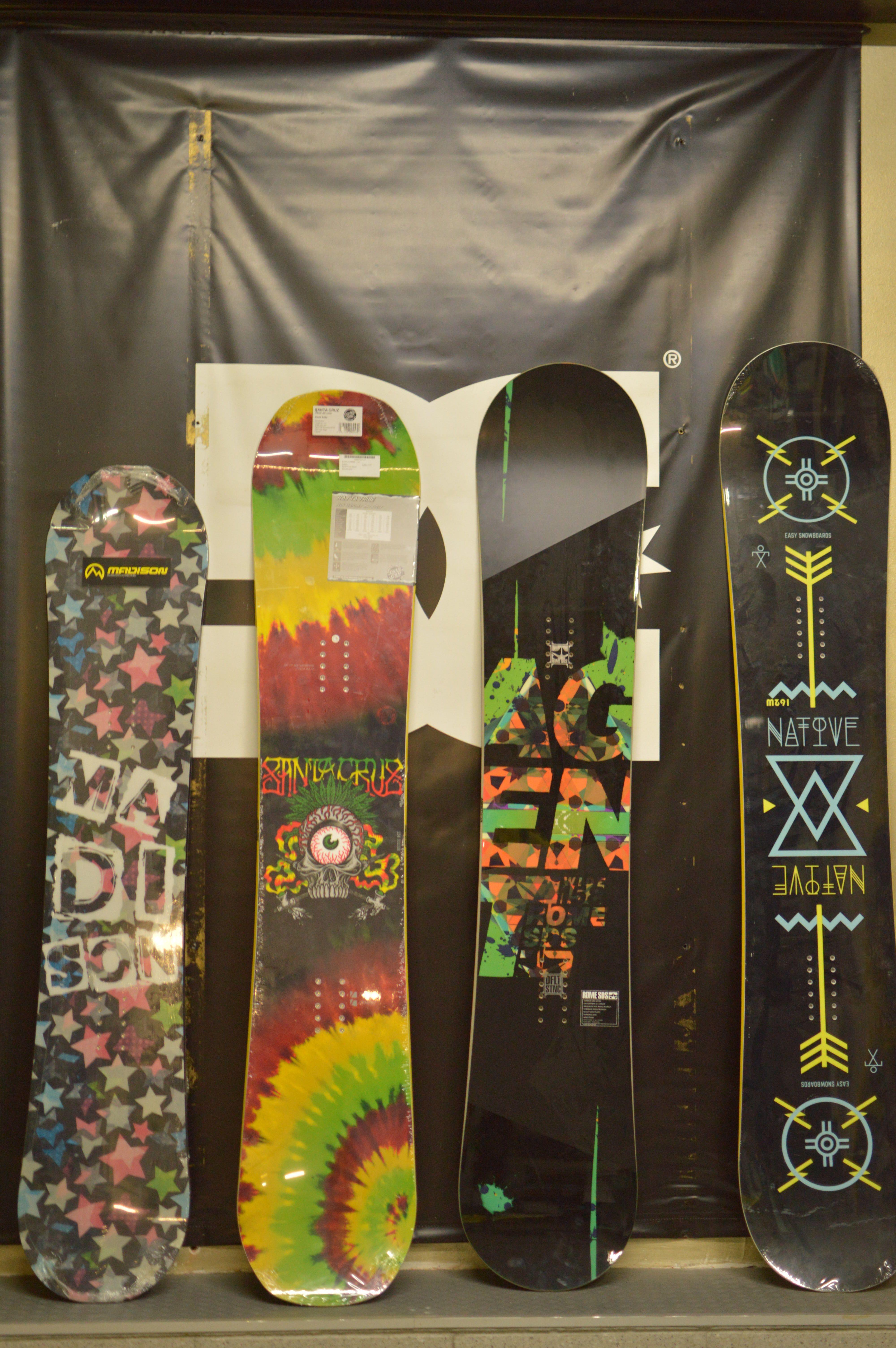 Tablas de snowboard de todos los tamaños