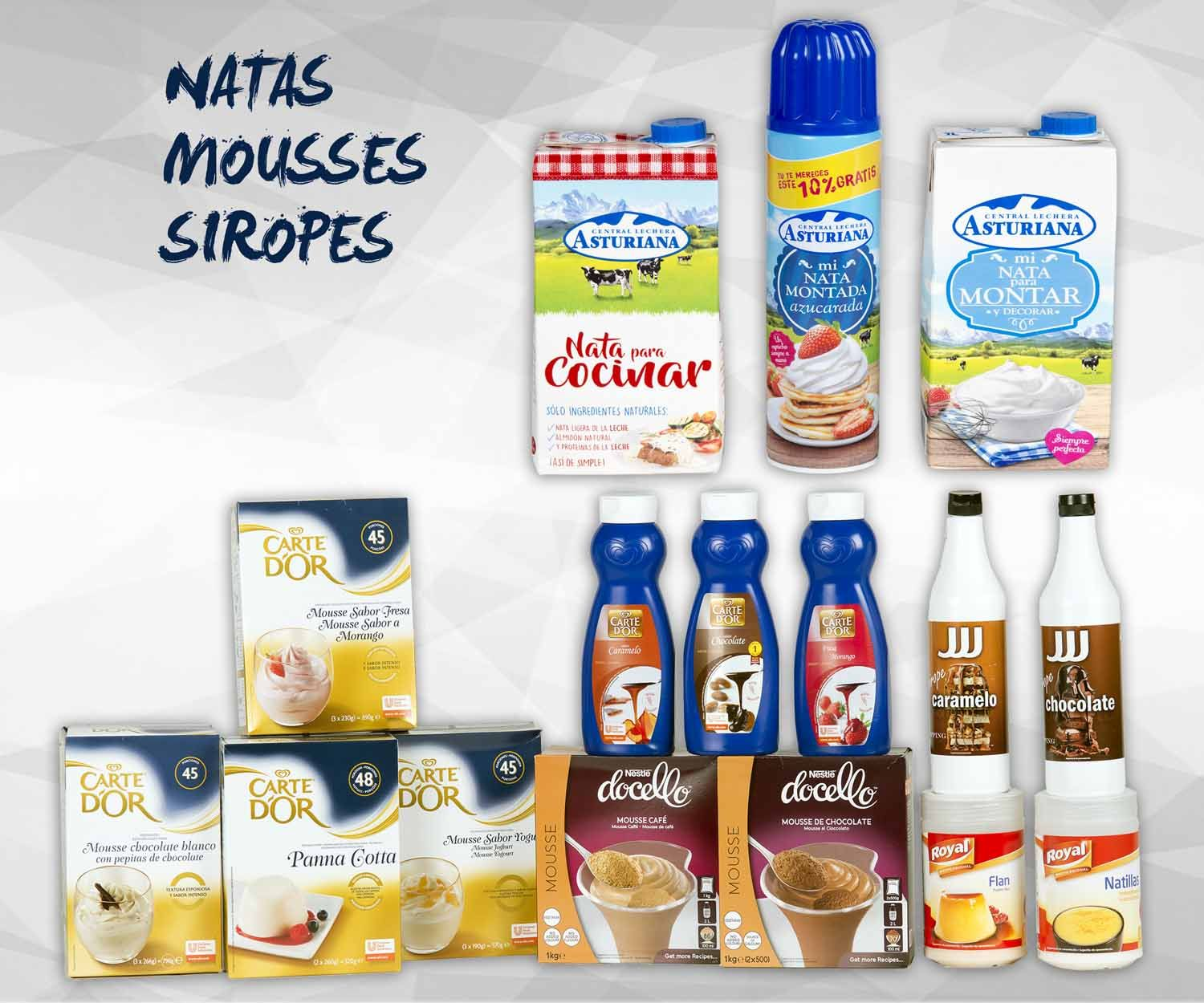 Natas, Mousses y siropes: Productos de Exclusivas San Luis