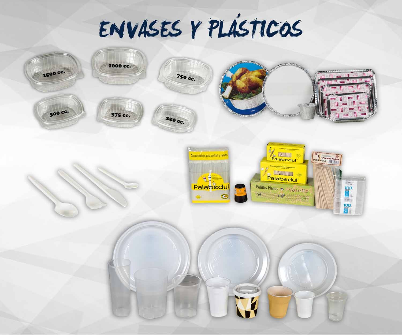 Envases de plástico y aluminio: Productos de Exclusivas San Luis