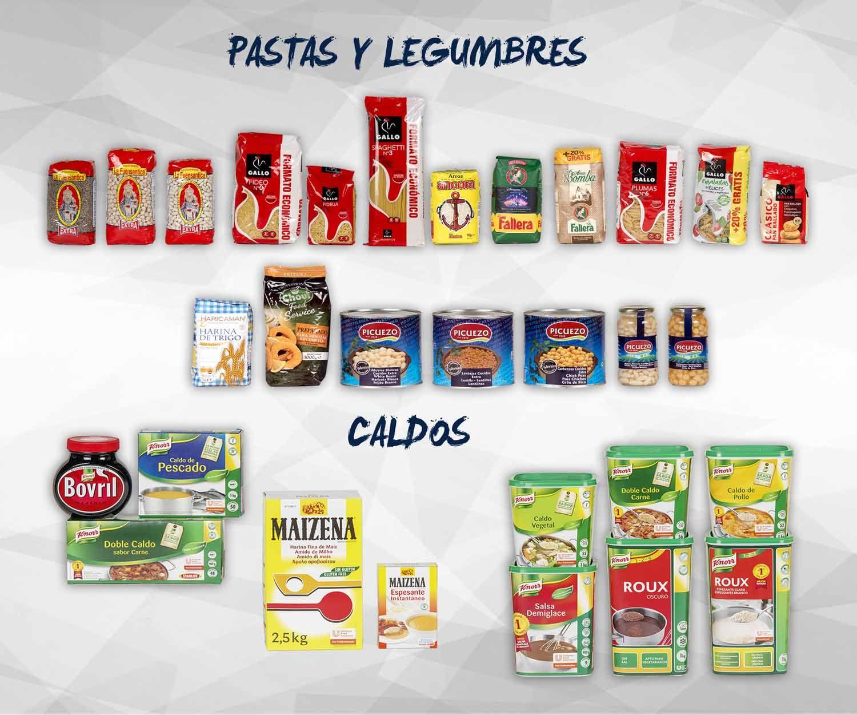 Pastas, legumbres y caldos: Productos de Exclusivas San Luis