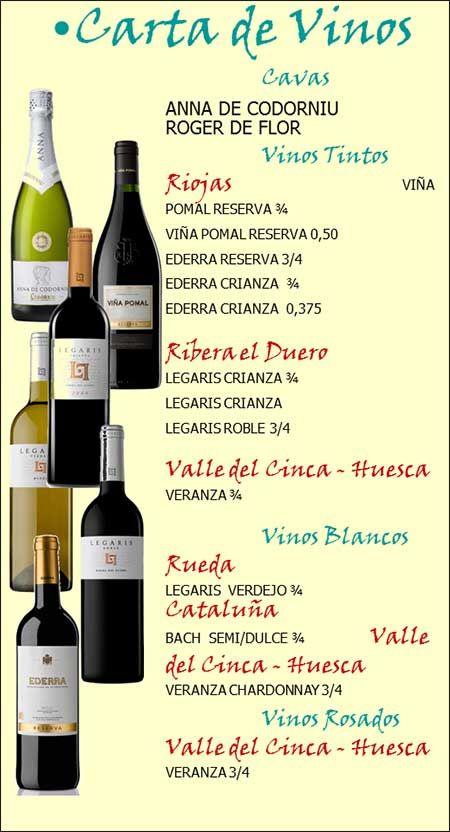 Carta de vinos: Servicios de Restaurante las Palmeras de Fasnia