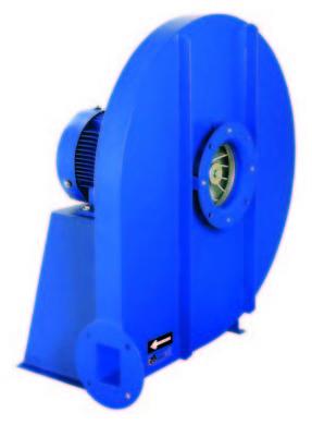 Ventiladores centrífugos de alta presión (Transporte neumático)