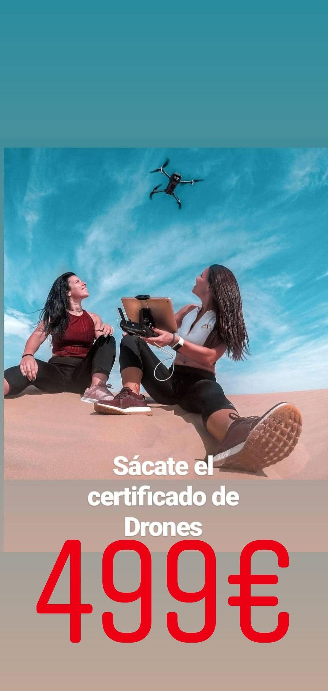 Certificado de drones en Madrid centro