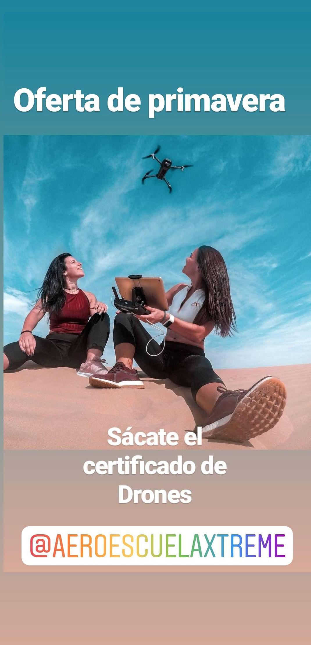 Oferta Primavera, certificado de drones en Madrid centro