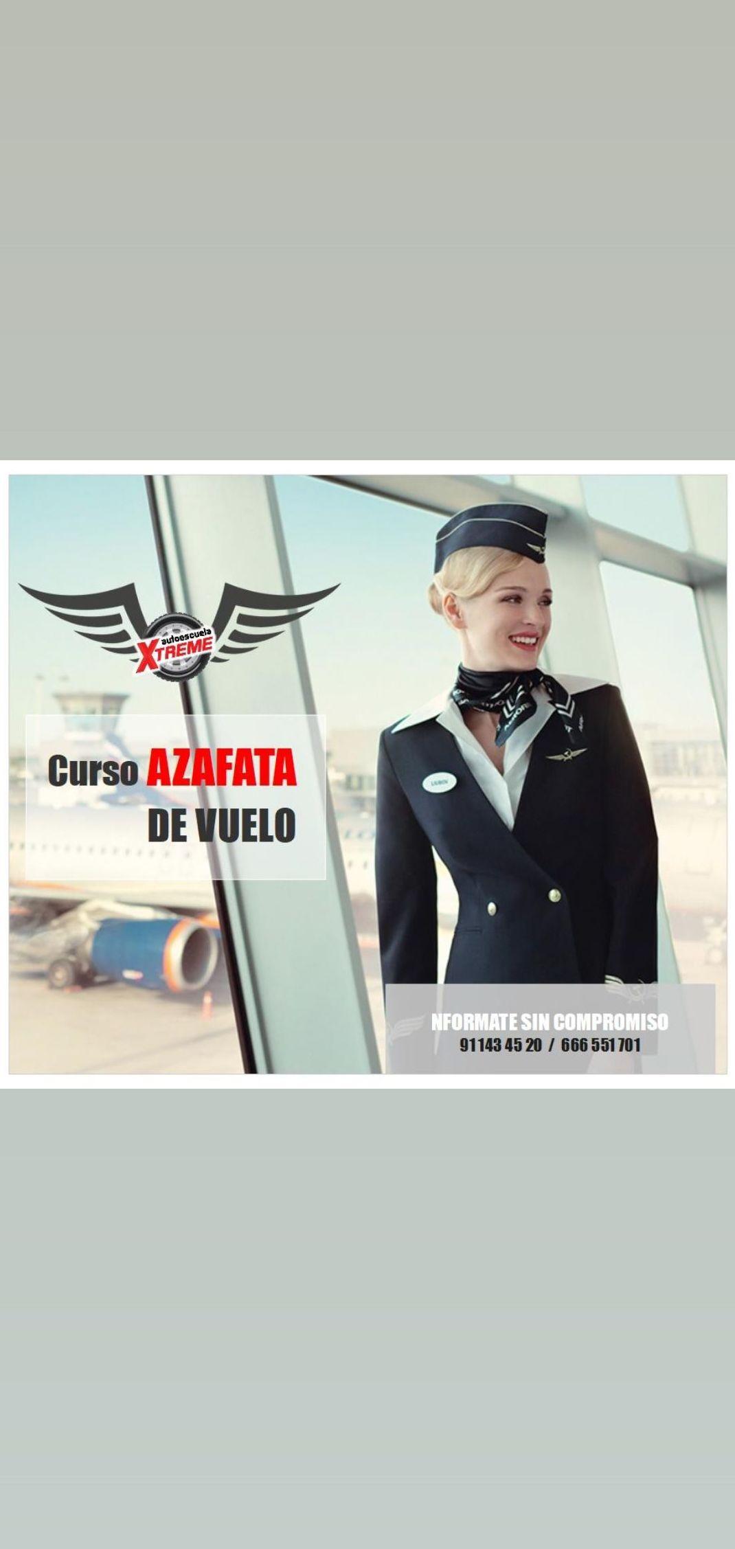 Curso azafata de vuelo en Madrid centro